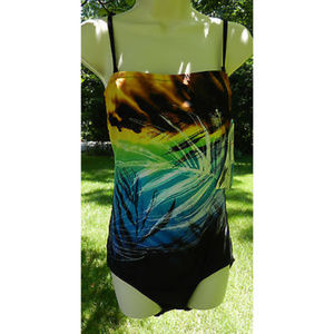 CHRISTINA 8L Black Multi One Piece Bathing Suit